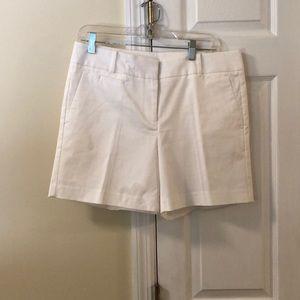 White Ann Taylor Devin Fit shorts